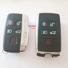 With LOGO for Land Rover Range Rover LR2 LR4 for Jaguar Upgraded Remote Car Key Shell Case Fob Housing Cover(China)