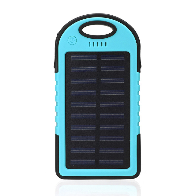 20000mAh Solar Power Bank with Emergency LED Flashlight and Dual USB/Micro Charging Ports