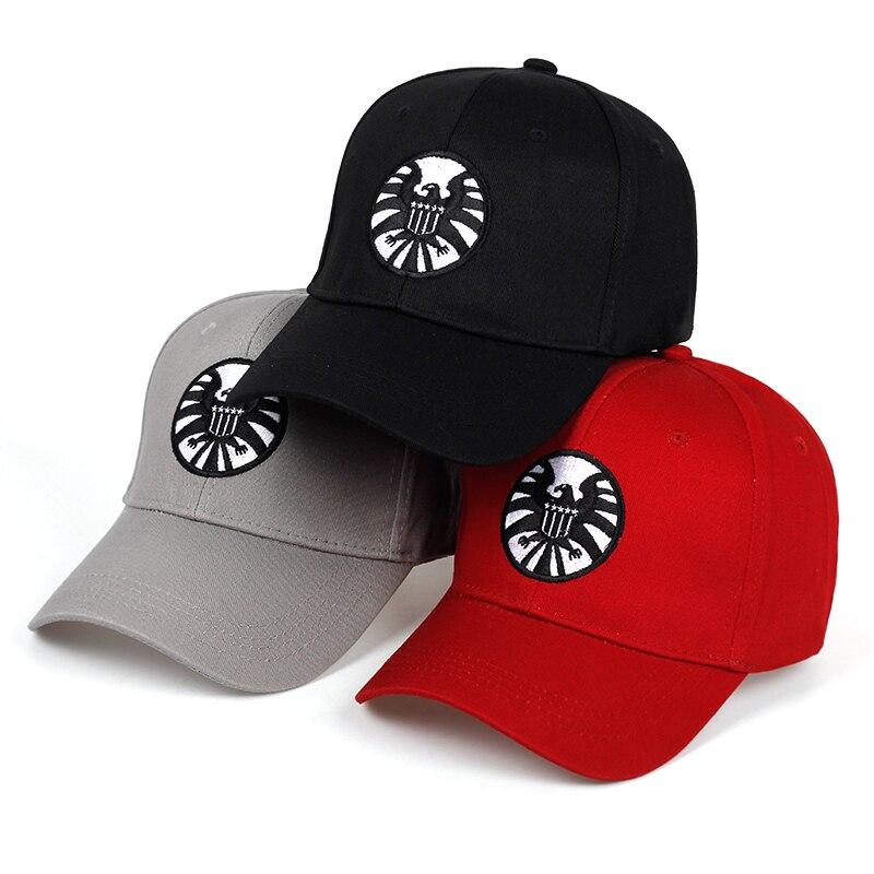 Captain Marvel Carol Danvers Caps Unisex Adjustable Hip Hop Sun Hat Snapback Agents Of S.H.I.E.L.D. Shield Baseball Caps
