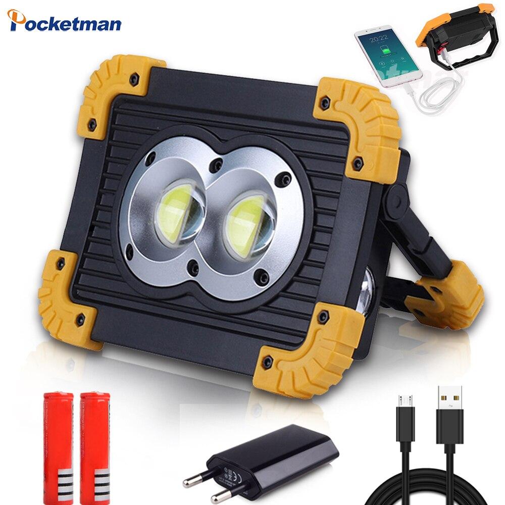 Pocketman высокое Мощность COB светодиодный рабочий свет Портативный USB Перезаряжаемые Рабочая лампа Аварийное освещение Прожектор Водонепрони...