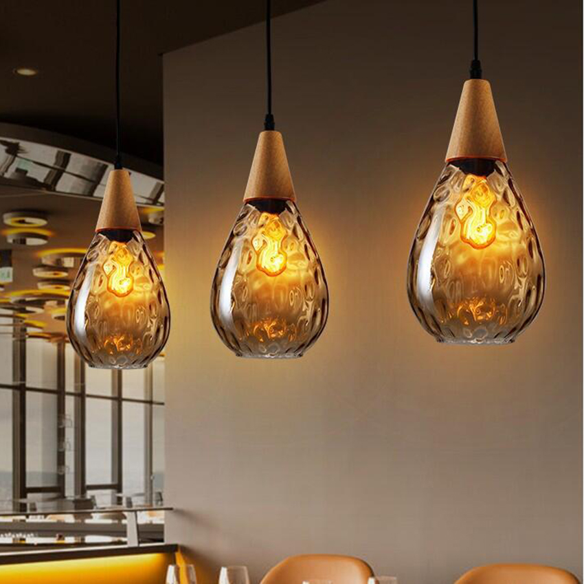 Moderne verre pendentif LED lumières salon chambre suspension lampe décor pendentif lampe luminaires de cuisine Luminaire Suspendu