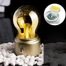 Bzoosio1PC lámpara de bombilla creativa Retro LED luz de noche USB recargable decoración de cabecera de alta calidad luz segura ambiente cálido F1