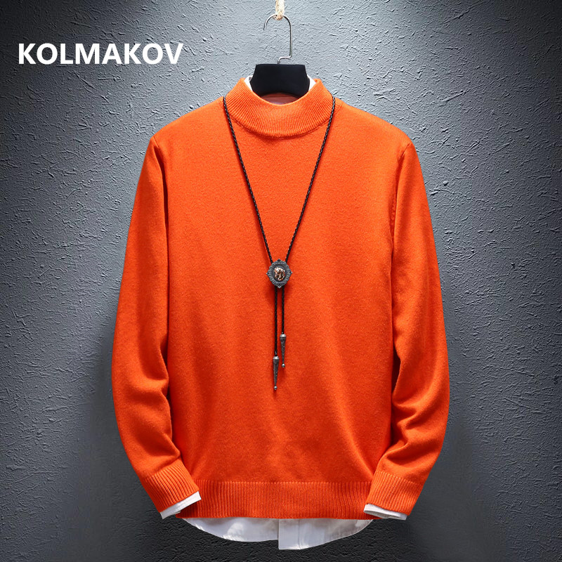 Autumn Men's Sweaters High Quality Mens Sweater Knitted Pullovers Hot Sale Soft Wool Classic Multi-color Men Sweater MY012