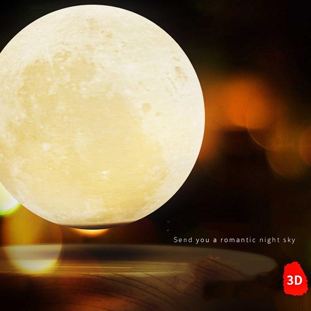 Lámpara de luz de Luna lámpara de escritorio de impresión 3D suspensión magnética para luz de hogar Luz de escritorio Luz de estudio luz Led Luz de cama - 2
