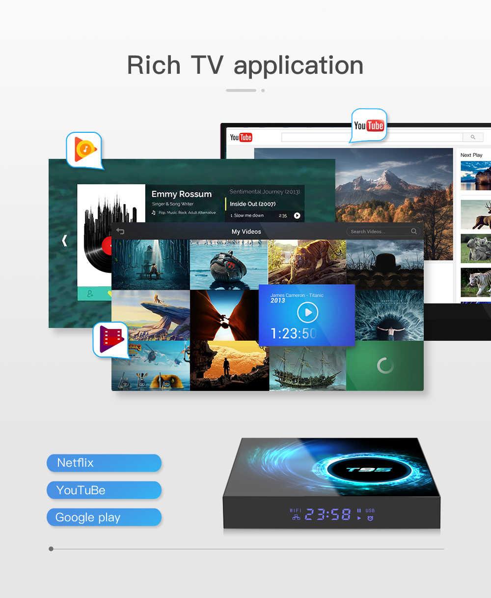 Vontar T95 Tivi Box Android 10 4GB 32GB 64GB Allwinner H616 Quad Core 1080P H.265 4K 60fps Truyền Thông Người Chơi GB RAM 16GB Set Top Box