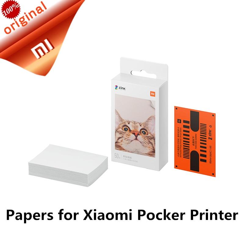 Оригинальный XIAOMI Карманный принтер бумага самоклеящаяся принт цинкованные бумага 20/50 листов для XIAOMI 3-дюймовый мини Карманный фотопринтер