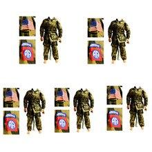 5 conjuntos 1/6 escala acessórios roupas soldado uniformes aéreos definido para 12