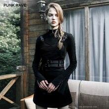 Платье женское эластичное черное с поясом и