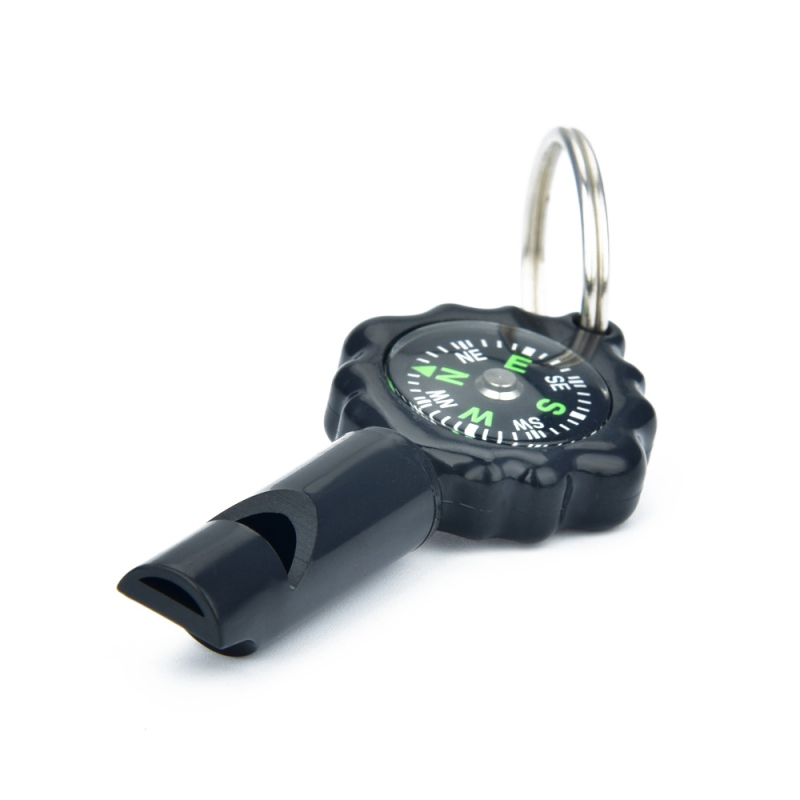 Sports EDC Emergency Survival Tool Multifunctional Whistle With Compass Key Ring Outdoor Traveling Hiking Camping(China)