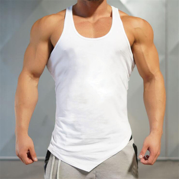 Mens Summer Fitness Bodybuilding Cotton T-shirt Gyms Workout Short Sleeve Shirts Male Fashion Leisure Tees Tops Clothes