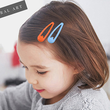 12Pcs/set Candy Color Baby Hair Clips For Girls Snap Children Kids water drop Hairpins Women Accessories Cute Barrette
