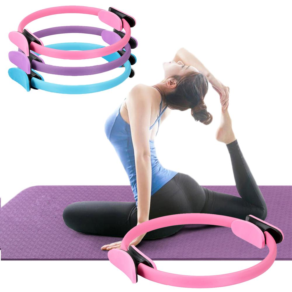 Dual Grip Training Yoga Pilates Ring  For Muscle Exercise Kit  Magic Circle Muscles Bod Yoga Fitness Slimming Plasticity Tool
