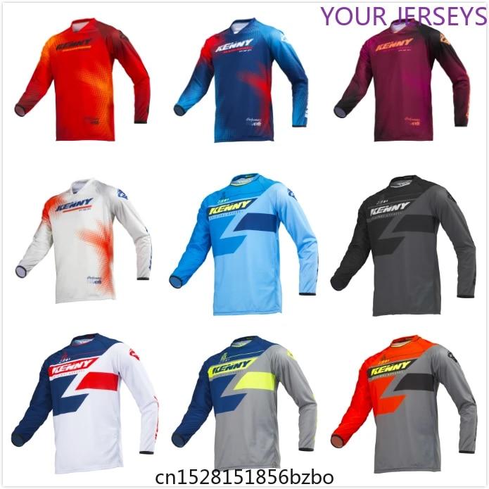 NEW 2020 Quick Dry Kenny Moto Jersey MX Bike Motocross BMX DH MTB T Shirt Clothes Long Sleeve Breathable