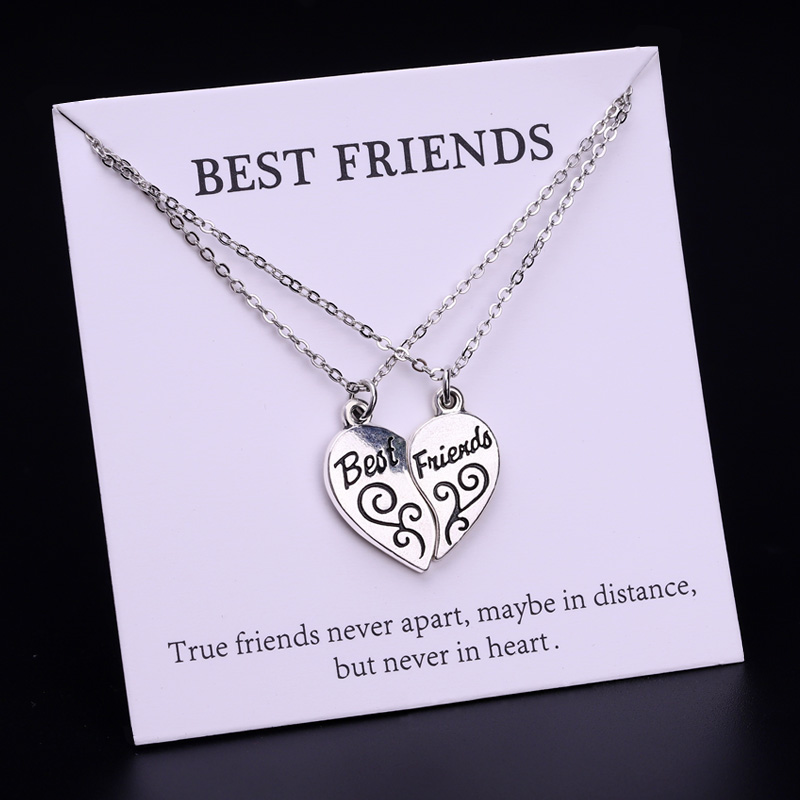 Best friends Soccer Star Lucky Pendant Necklaces Women Fashion Card Jewelry Christmas Gifts Drop Shipping