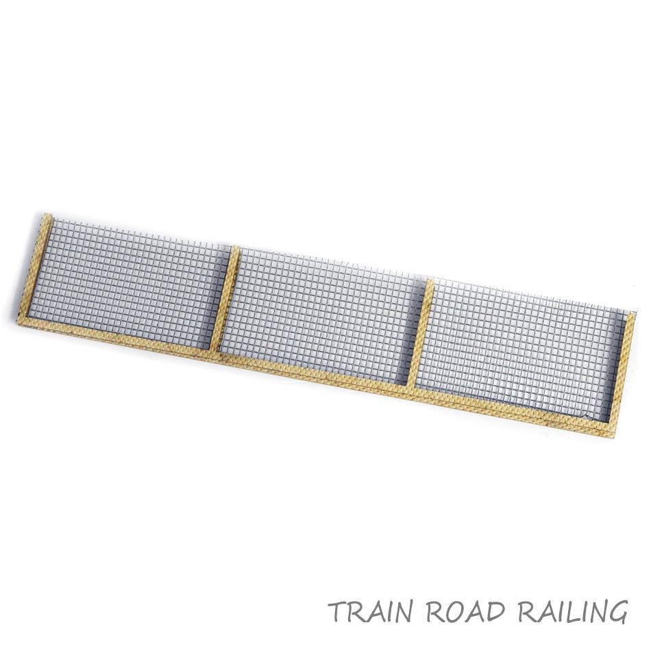 HO 1/87 Scale Train Model Building Scenery Sand Railroad Railing Train Fence Guardrail For Diorama Architecture Railway Scene