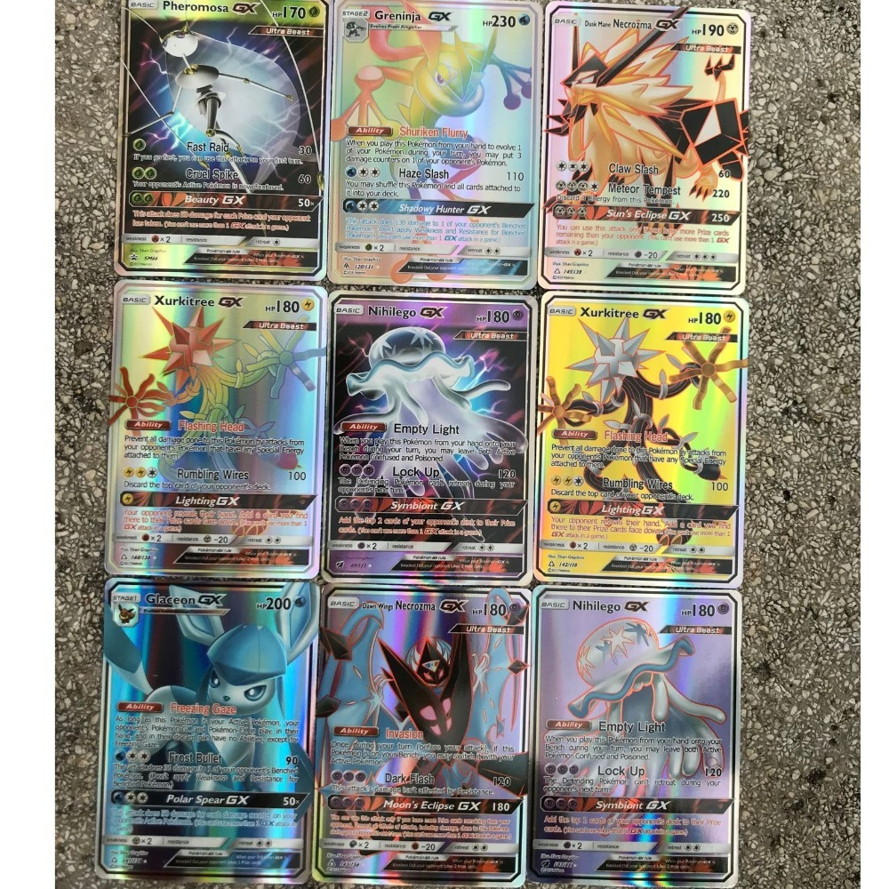 Image 5 - GX MEGA Shining Cards Game Battle Carte 20 60 100pcs 200 Pcs Trading Cards Game Children Toy-in Game Collection Cards from Toys & Hobbies