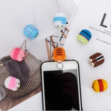 Cartoon Cute Animal Cable Phone Charger Protector Cord Data Line Cover Decorate Smartphone Wire Accessories