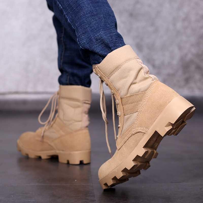 Chiến Thuật Quân Sự Giày Nam Rừng Rậm Màu Ngụy Trang Thoáng Khí Chiến Đấu Quân Giày Giày Xe Máy Giày Công Sở