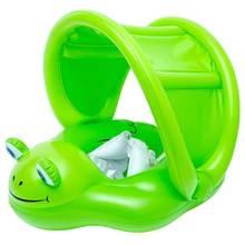 Детское плавающее кольцо надувной круг лягушки игрушечный тент