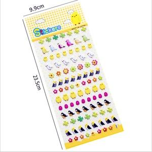 Image 5 - 40 упаковок/Партия Детские Мультяшные корейские милые 3D трехмерные Пузырьковые наклейки четыре выбора для подарков