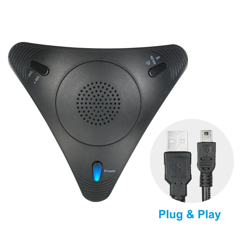 USB-микрофон для конференц-связи, настольный проводной микрофон VOIP + динамик для ПК, ноутбука, офиса, конференц-связи, видеозаписи