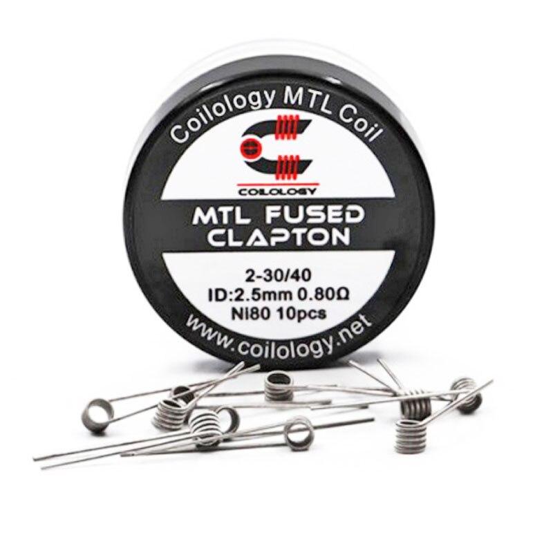 Coilology MTL Coil Wire 316SS 28GA 0.9ohm/NI80 26GA 0.6ohm Vape Coil/Fused Clapton 0.8ohm Prebuilt Coil For RTA TANK/RDA/RDTA