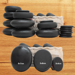 Image 2 - TONTIN Hot stone Massage set round stone basalt massage stones massager tool Salon SPA Heater bag 220 & 110 Volt CE and ROHS
