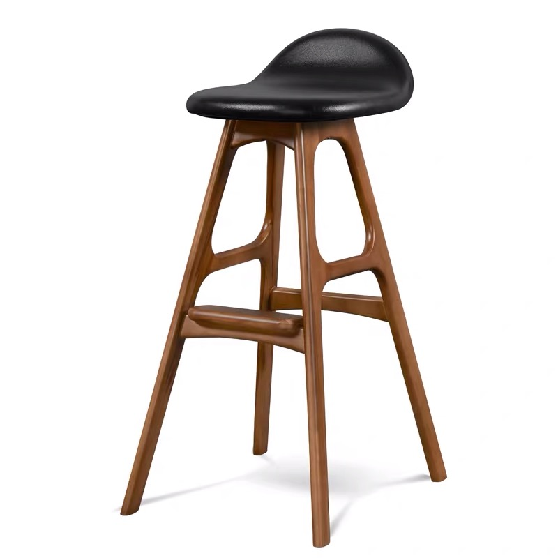Northern Wind Bar Stool High Solid Wood Contracted And Contemporary And Fashionable Furniture Originality High Stool Bar Stool C