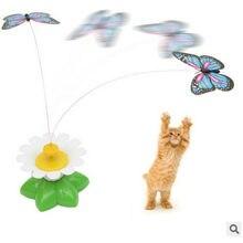 Brinquedos para animais de estimação gatos suprimentos para animais de estimação acessórios para cães elétrica rotativa assento borboleta gato engraçado interativo gatinho jouet chat