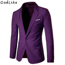 2019 New Fashion Mens Casual Blazer Single Button Dress Jacket Men Slim Fit Suit Solid Coat 5XL 6XL