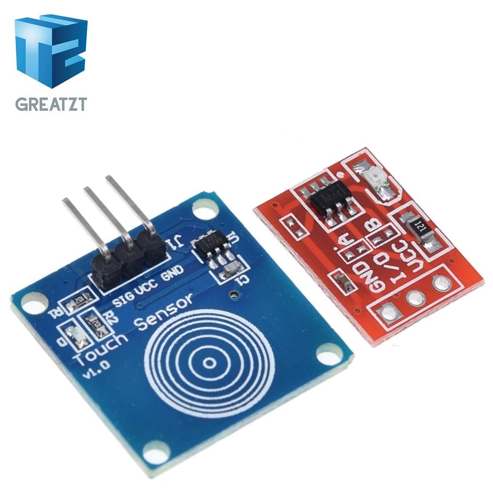 Модуль переключателя сенсорного ключа GREATZT TTP223 TTP223B, сенсорная кнопка, самоблокирующийся/без блокировки, емкостные переключатели, одноканальный Recons|accessories for|accessories accessoriesaccessori arduino | АлиЭкспресс