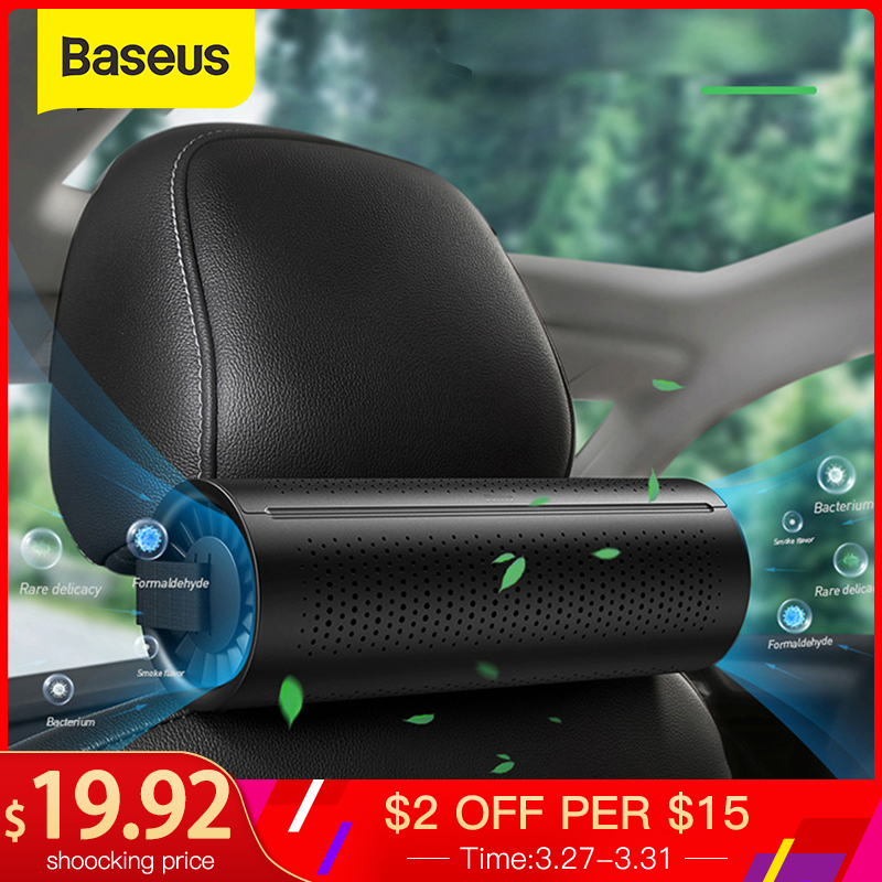 Baseus Car Air Purifier Ionizer Negative Ion Air Freshe Activated Carbon Crystal Purifying Auto Air Cleaner Freshener