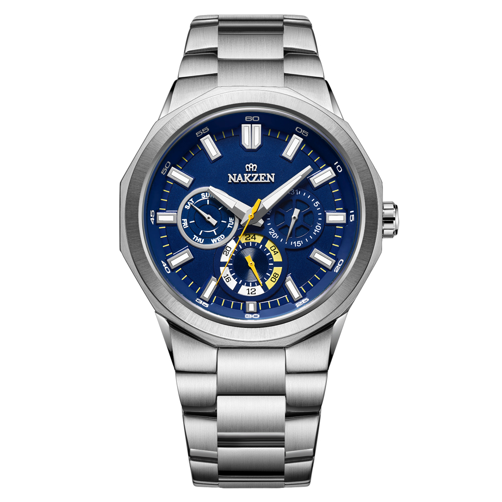Nakzen 2020 relógio de quartzo masculino marca de luxo à prova dwristwatch água relógio de pulso masculino negócios militar relogio masculino + caixa