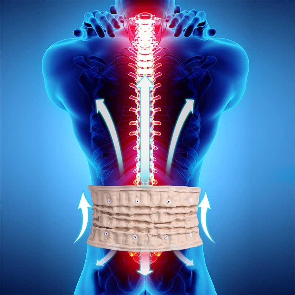 פיזי המותני שחרור לחץ חזרה החגורה חזרה תמיכה & מתיחה המותני חגורת השדרה חגורת אוויר גרירה לכאבי גב תחתון הקלה