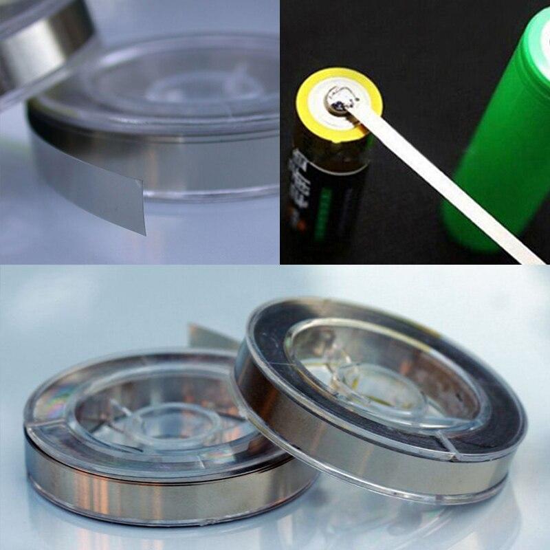 8M 6*0.15 MM Pure Nickel Plated Steel Strip Nickel Plate Strap Strip Sheets For 18650/26650 Battery Spot Welding /Spot Welder