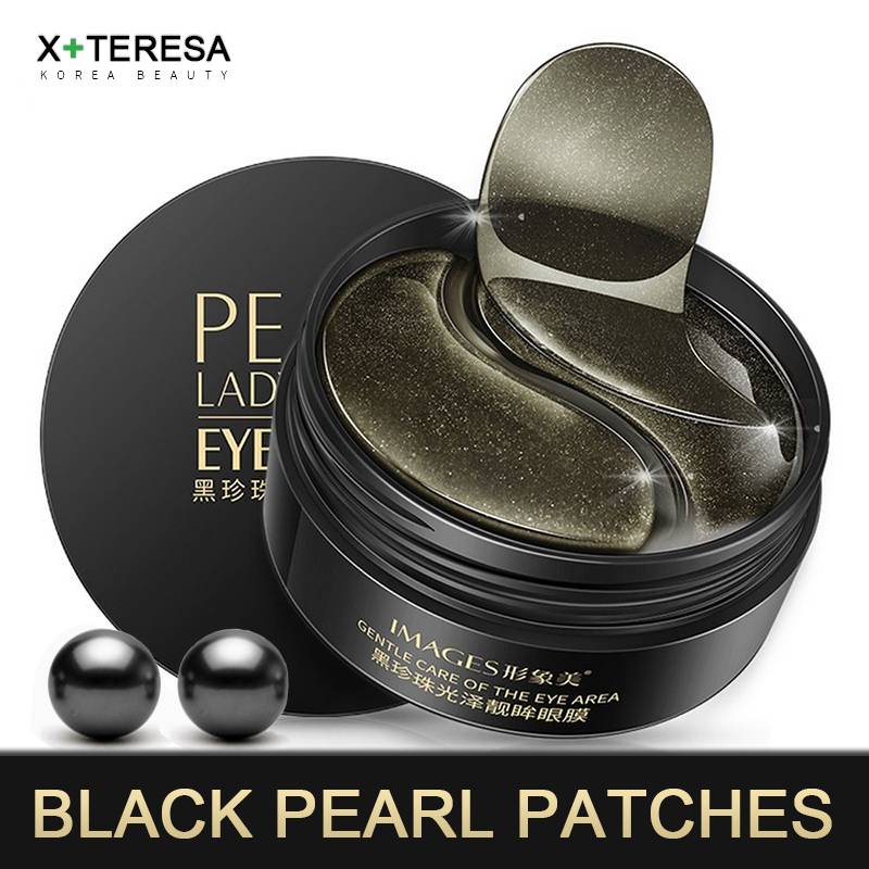 Black Pearl Eye Patches Moisturizing Collagen Gel Mask Whiten Remove Dark Circle Anti Age Wrinkle Eye Bag Korean Skin Care 60pcs