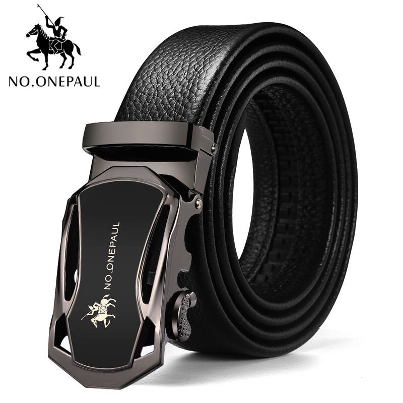NO.ONEPAUL Genuine Leather Belt Luxury brand high quality alloy automatic buckle Men's Belts Jeans decoration Belts for Men