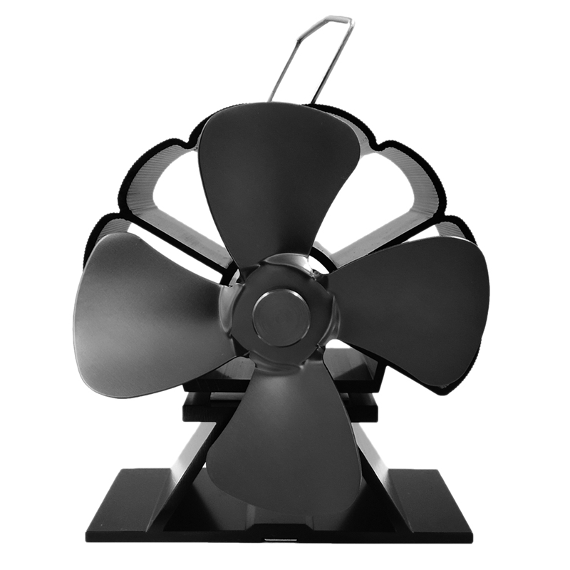 4 Blade Stove Fan - Quiet, Heat Powered Wood/Log Burner Fan - Eco Friendly Heat Circulation For Fireplaces