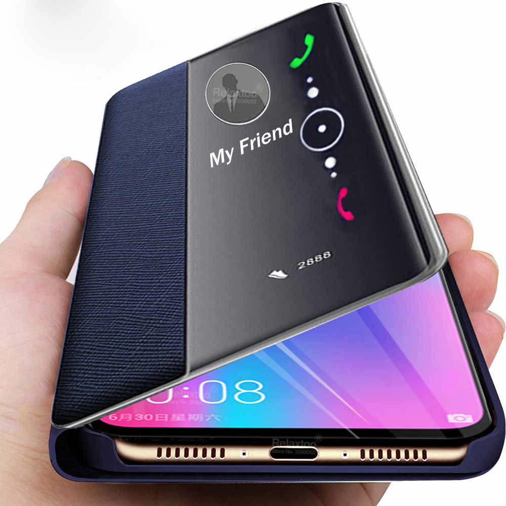 Funda abatible de cuero para huawei p30 pro p20 mate 20 p smart 2019 fundas a prueba de golpes honor 10 lite 9 light honer 8x funda coque