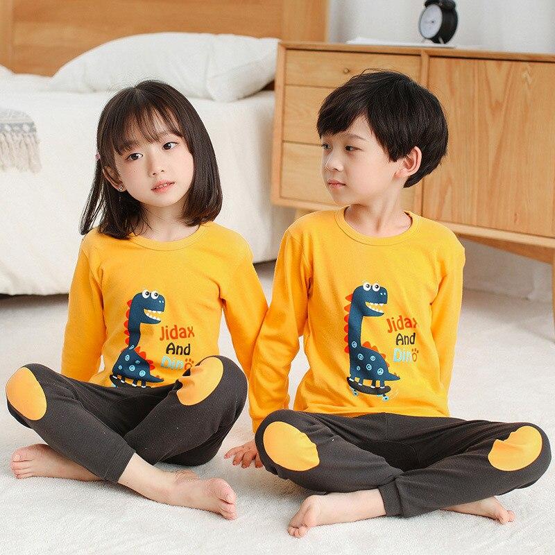 2020 Winter Children Christmas Pajamas Boys Cotton Nightwear Baby Girl Clothes Suit Cartoon Pyjamas Kids Pijama Infantil Teenage 4