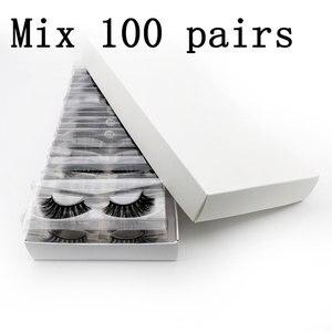Image 1 - ขายส่งราคาขนตาปลอม 3D Mink Lashes ที่กำหนดเองกล่อง NATURAL Mink Eyelashes fluffy ขนตาปลอมแต่งหน้าขนตาปลอมจำนวนมาก