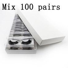 Faux cils de vison 3d, avec boîte personnalisée, pour maquillage, naturels, moelleux, en vrac, vente en gros