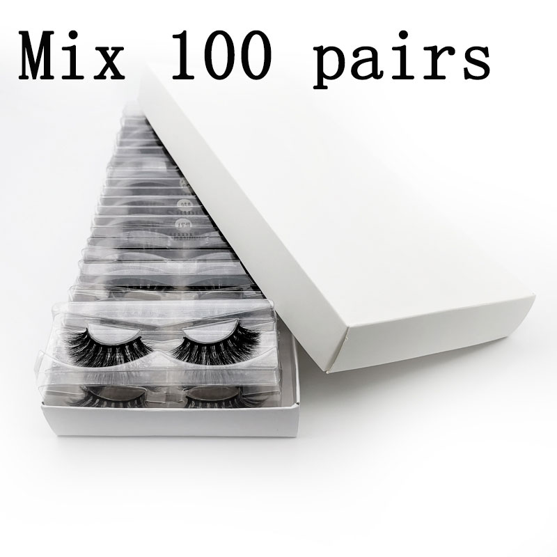 Wholesale Factory Price Eyelashes Set 3d Mink Lashes Natural Mink Eyelashes Fluffy False Eyelashes Makeup False Lashes In Bulk