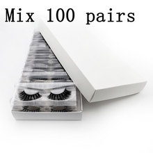 Wholesale price Eyelashes 3d mink lashes with custom box Natural Mink Eyelashes fluffy False Eyelashes Makeup False Lashes Bulk