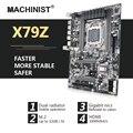 Материнская плата LGA 2011 ATX SATA3 X79 USB3.0 Dual PCI-E16X M.2 Xeon SSD suporte Quatro canais DDR3 E5 2.4F 1620V2 2670 2680v2