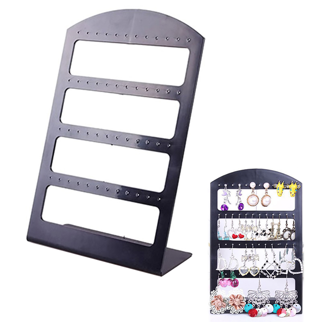 High Quality Earring Rack Multipurpose 48-Hole Acrylic Earring Holder Jewelry Hanger For Shop Jewelry Display Earring Storage