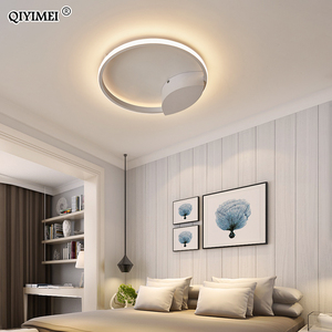 Image 5 - Modern Rings LED Chandeliers Lighting For Bedroom Living Room White Black Coffee Lights Fixture Lamps AC90 260V QIYAMEI