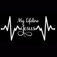 My Lifeline Jesus Graph Sticker Christian God Religious Cute Car Styling Decal DIY Car Styling Accessories 19cm x 9cm 4