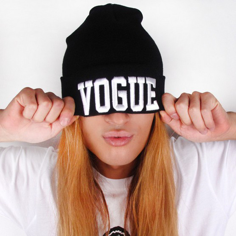 Hot Selling Bonnet VOGUE Beanie Popular Personality Knit Woolen Hat Men And Women Autumn Winter Hats Warm Outdoor Hip -hop Caps