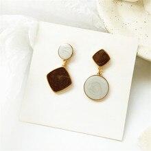 Fashion women earrings circular color geometry  fine for
